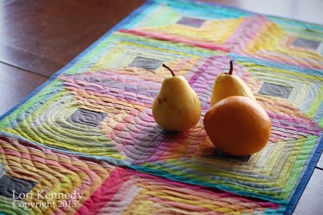 Log Cabin, Hand dye quilt