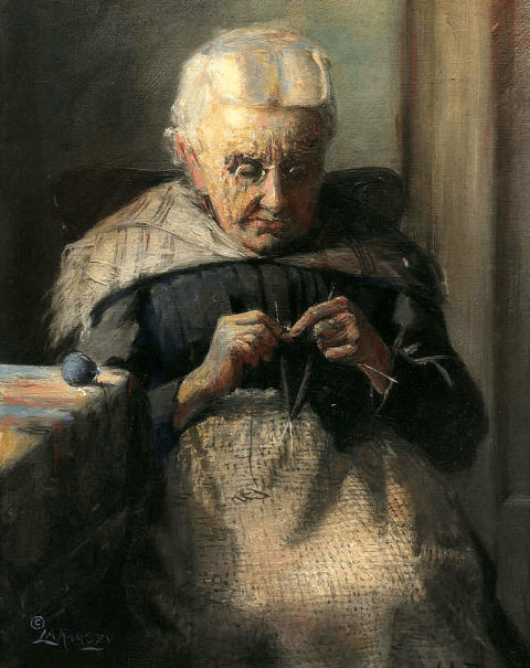 Grandma, Sewing, Lewis Ramsey