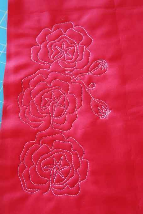 Poppies, Free Motion Quilting