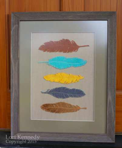Feathers, FMQ, LKennedy
