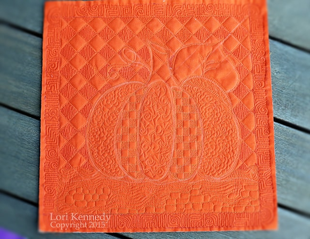 Pumpkin Free Motion Quilting, LKennedy