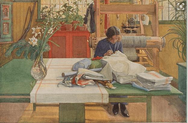 Carl Larsson, Sewing