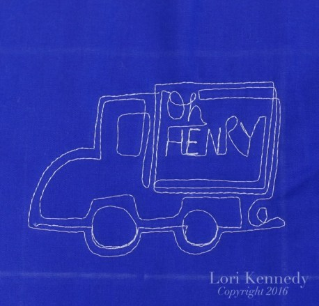 Free Motion Quilted Trucks, Lori Kennedy
