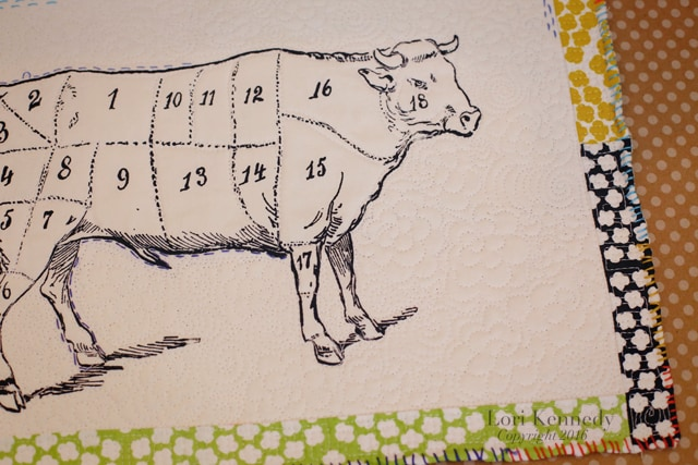 Silk screen cow, Faye Kennedy