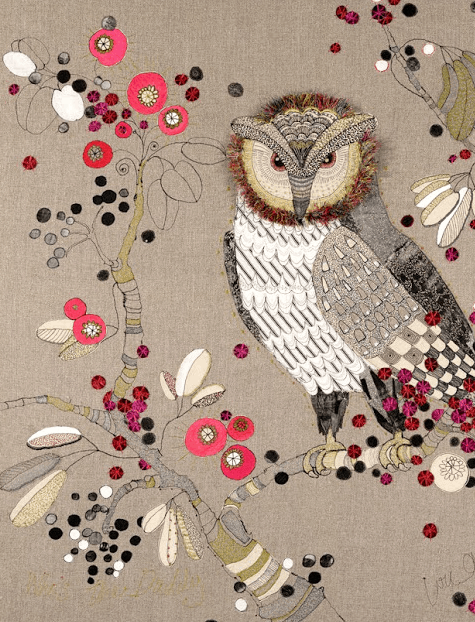Louise Gardiner, Owl Embroidery