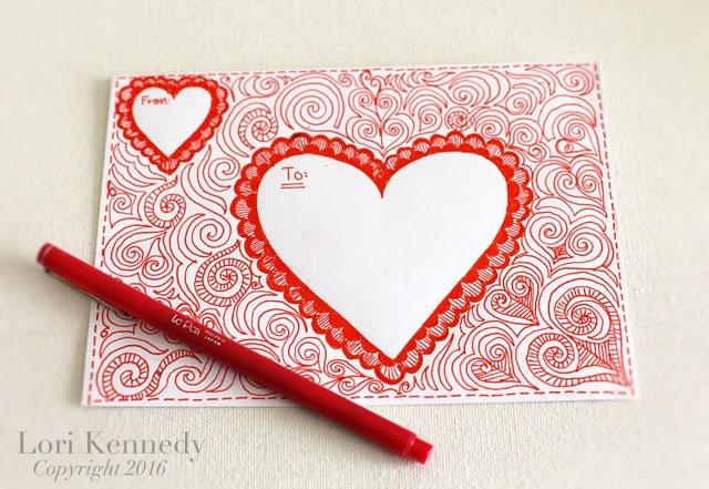 Doodle Envelopes, Zentangle, Lori Kennedy
