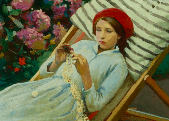 Harold Harvey, Girl Tatting