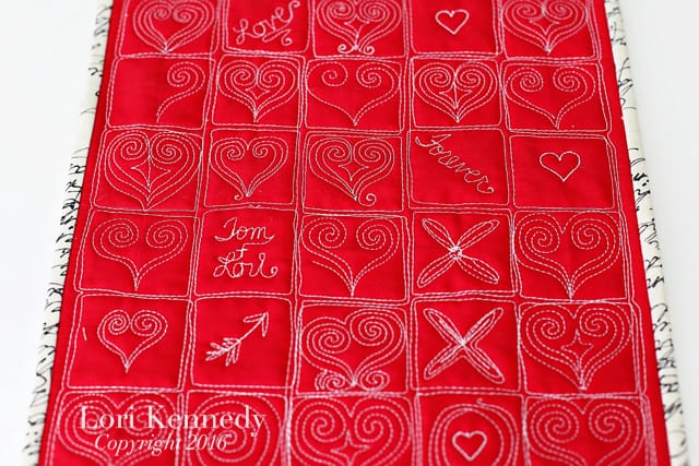 Grid Heart Quilt, Lori Kennedy