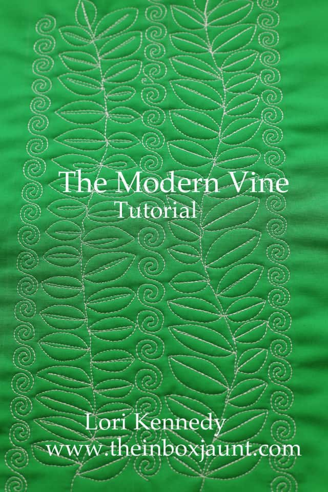 Modern Vine, Quilt Tutorial, Lori Kennedy