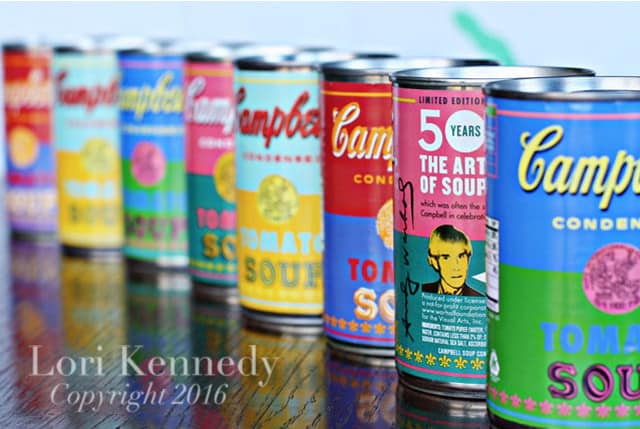 Andy Warhol, Soup Cans, Lori Kennedy Designs