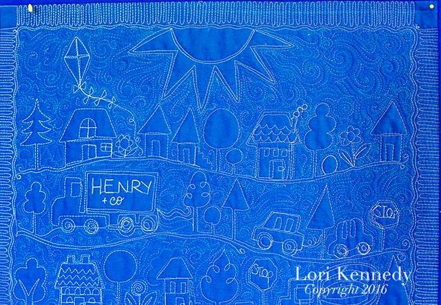 Boy Quilt, Machine Quilting, Lori Kennedy
