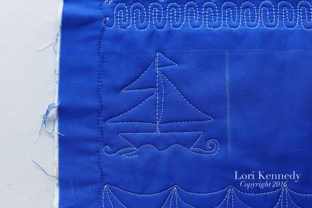Sailboats, Sampler, Machine Quilting