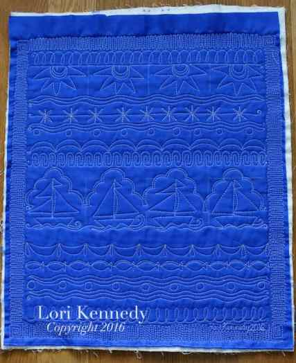 Gallery of Horizontal Sampler Quilts:Sailboat Sampler Quilt, Lori Kennedy