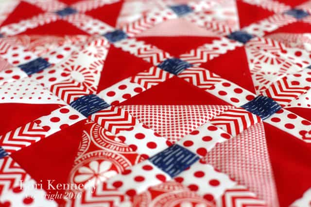Red White Quilt, Lori Kennedy