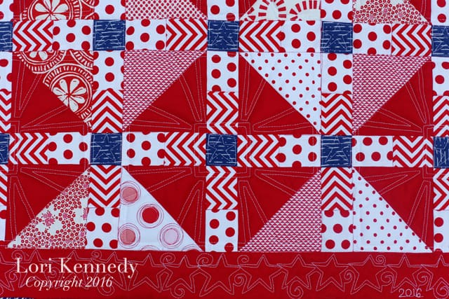 Red, White Blue Quilt, Lori Kennedy