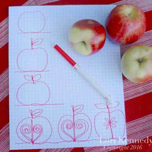 How to doodle an apple