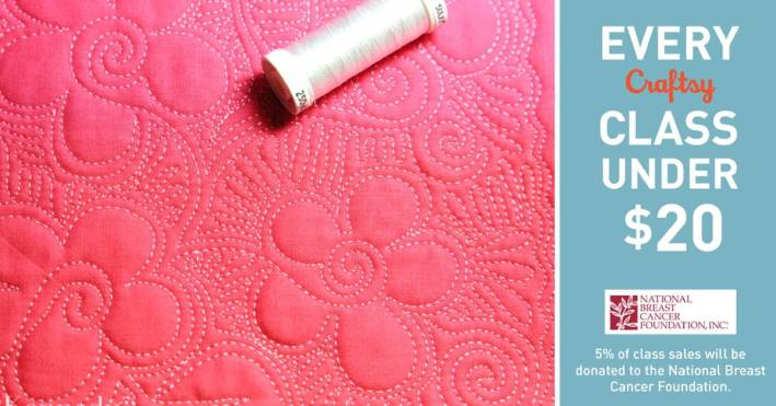 Craftsy Breast Cancer Promo