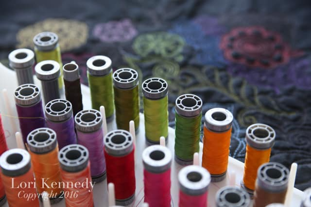 Aurifil Cotton Thread, Lori Kennedy, FMQ