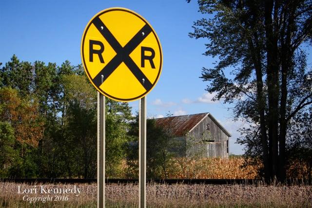 Train, Farm, Autumn, Minnesota