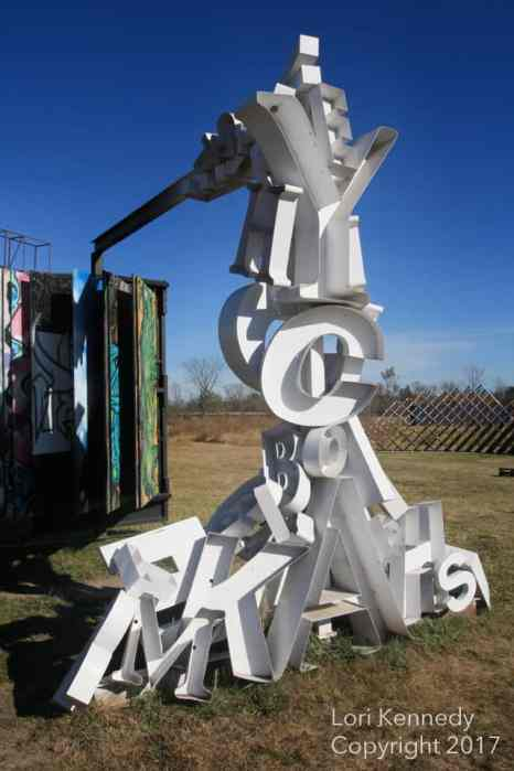 Alphabet Sculpture, Franconia Sculpture Park