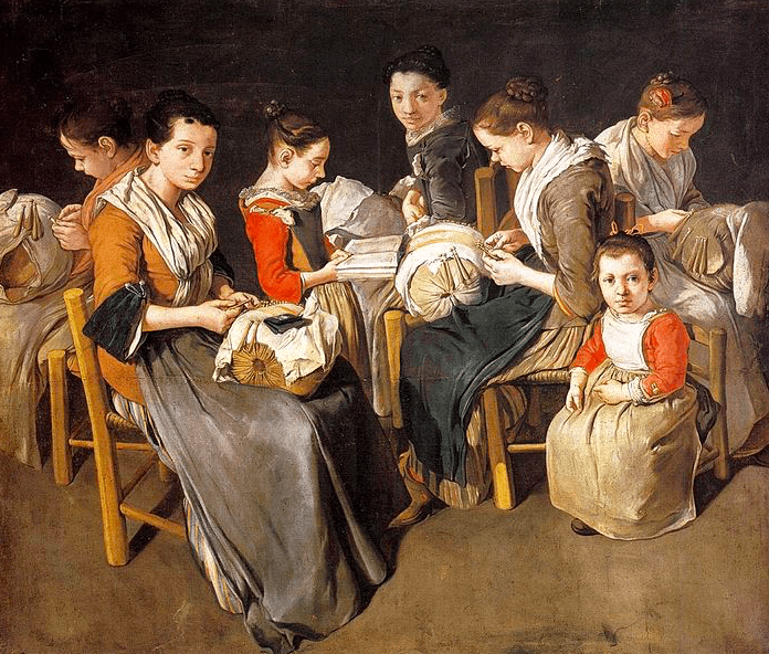 Giacomo Ceruti, Women Working On Pillow Lace