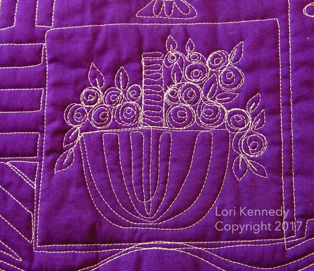 Machine Quilting, Lori Kennedy, Flowers