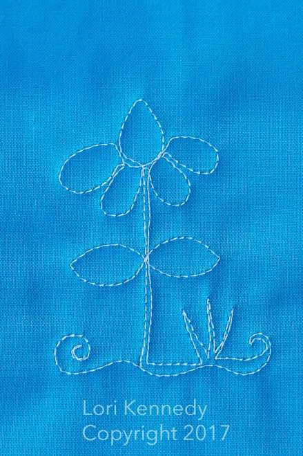 Daisy Crazy, Machine Quilting Tutorial, Lori Kennedy