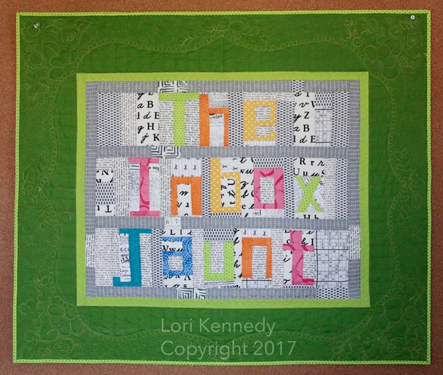 The Inbox Jaunt, Machine Quilting, Lori Kennedy