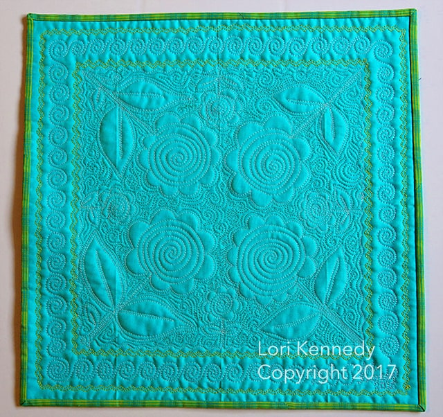 Lori Kennedy, FMQ, Spiral Lollipop
