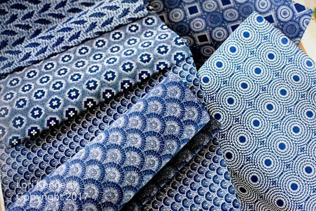 Indigo fabric
