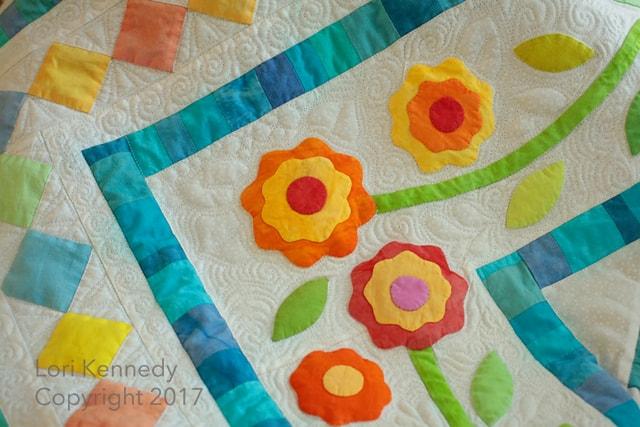 Work in progress applique borders lori kennedy quilts