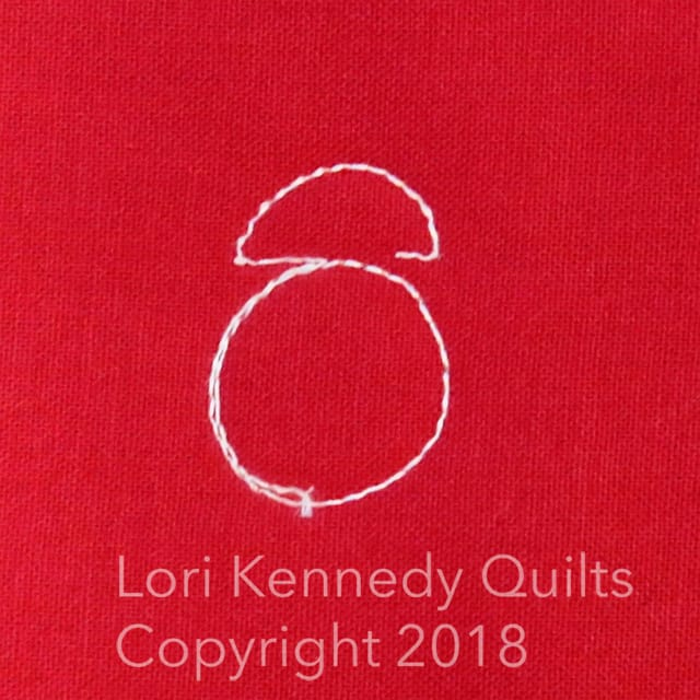 Lori Kennedy, quilted ladybug