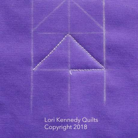 How to Quilt Triangle Texture, Lori Kennedy, FMQ