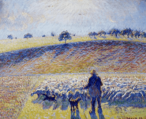 Camille Pissarro, Shepherd and Sheep