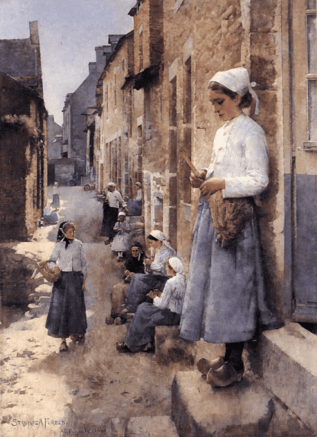 Stanhope Forbes, A Street in Brittany