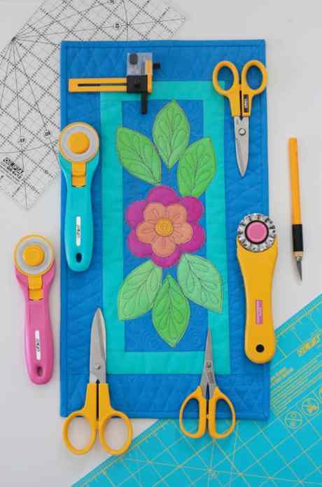 OLFA cutters and small applique quilt