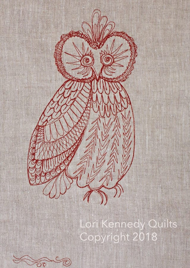 Lori Kennedy, Machine Quilting, Owl