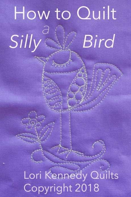 Silly Bird, Machine Quilting, Lori Kennedy