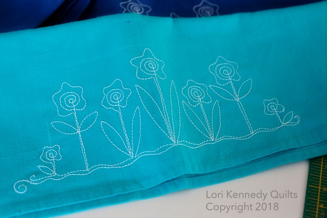 Silly Spiral Flowers, Tea Towels