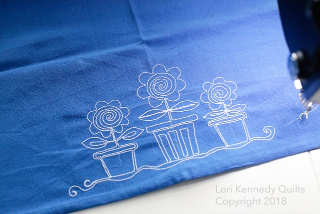 Embroidered Tea Towels, Lori Kennedy
