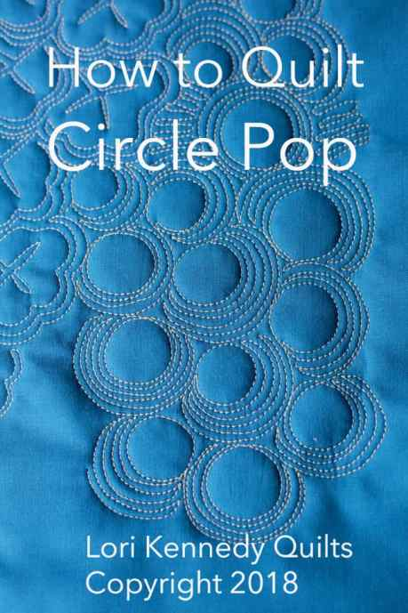 Circle Pop, Machine Quilting, Lori Kennedy