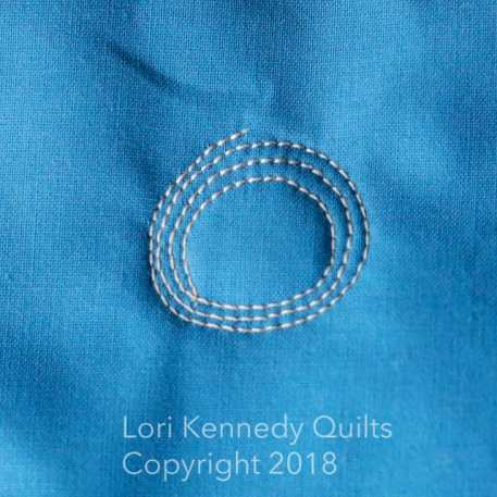 circle pop, machine quilting tutorial, Lori Kennedy