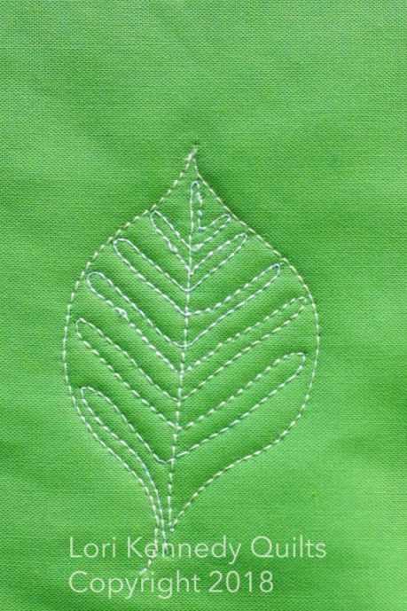 New Leaf, Machine Quilting, Lori Kennedy