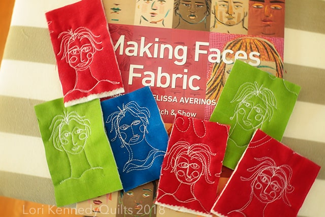 Machine Quilting, Lori Kennedy, Faces
