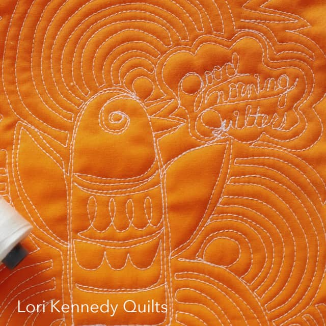 Machine Quilting, Bird, Lori Kennedy