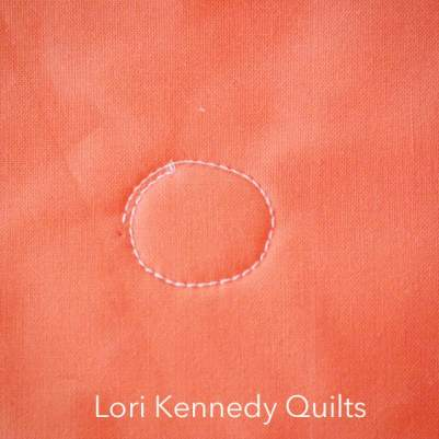 How to quilt a sunshine motif