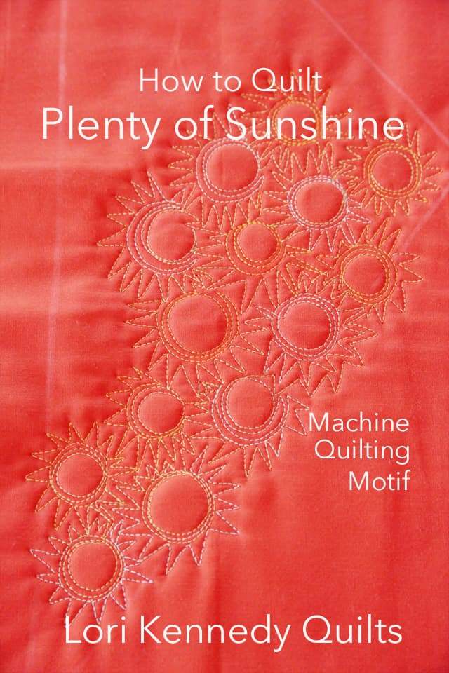 Aurifil Thread, How to quilt a sunshine motif