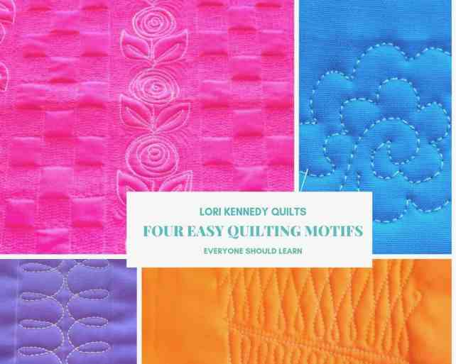 Four Easy Quilting Motifs