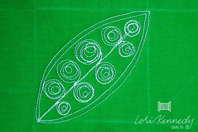 Welsh Leaf Variation, Messy Spiral Motif, Lori Kennedy, FMQ