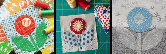 Quilt Block: Rose & Dot